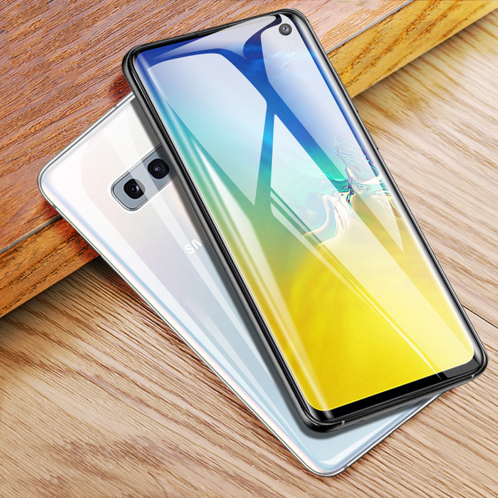 full cover tempered glass for <font><b>samsung</b></font> Galaxy S10 <font><b>plus</b></font> S10e phone <font><b>screen</b></font> protector S7 edge S8 <font><b>S9</b></font> <font><b>plus</b></font> <font><b>protective</b></font> film on glass image