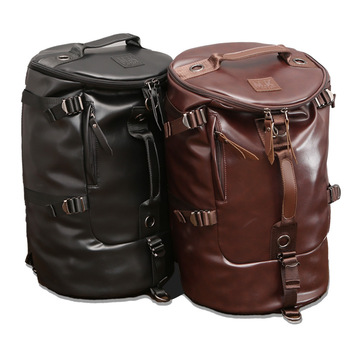2020 New Style Backpack PU Leather Men Backpack  Travel Shoulder Computer Bag Travel Backpack  Backpack Men