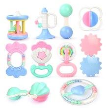 Ребенок игрушки рука удержание звон тряска колокольчик рука встряхивание колокольчик кольцо ребенок погремушки игрушки новорожденный ребенок 0- 12 месяцев прорезыватель игрушки