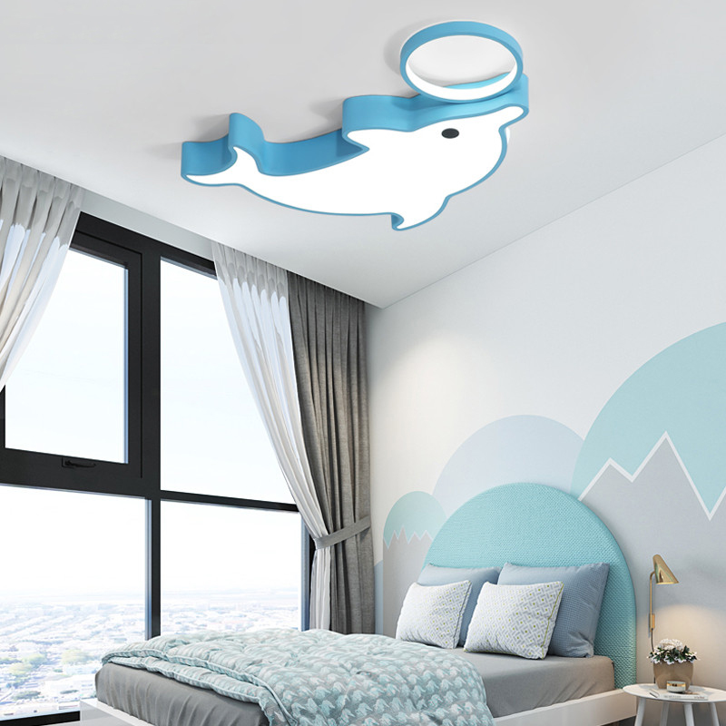 Nolvelty Dolphine Kids Bedroom Ceiling Light Fixtures Lighting Ceiling Lamp For Child Children S Room Baby Room Led Light Lamp Leather Bag