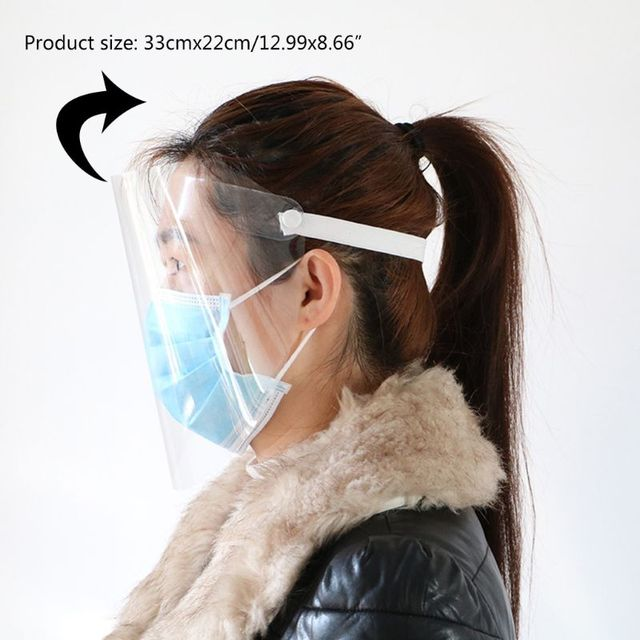 Portable light Transparent Anti-saliva Dust-proof Protect Full Face Covering Mask Visor Shield Protection Masks 4