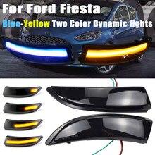 LED Dynamic Turn Signal Light Side Mirror Sequential Indicator Blinker Lamp For Ford Fiesta MK6 VI /UK MK7 2008-17 B-Max 2012-17