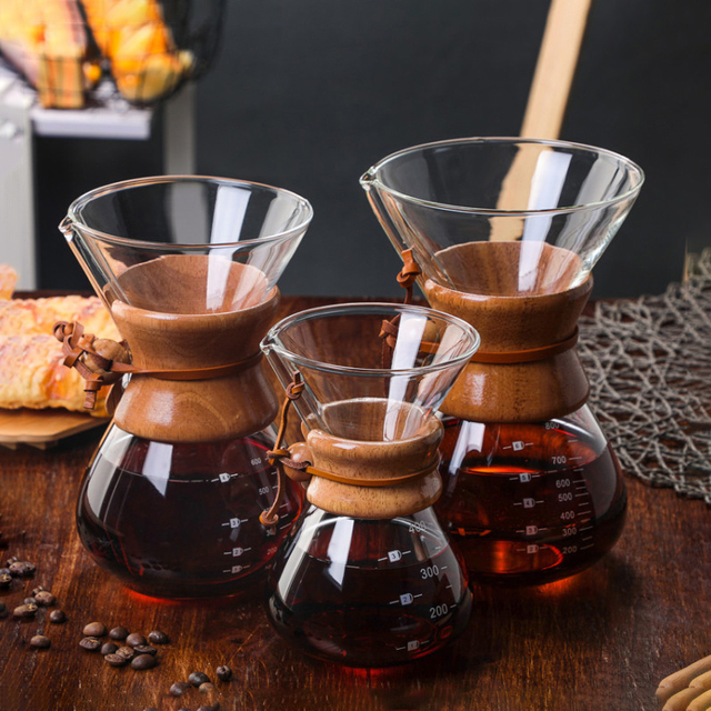 400ml Glass Coffee Pour Over Pot with Stainless Steel Filter 2