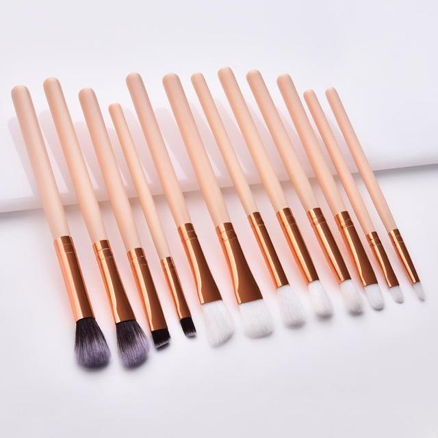 SAIANTTH 12pcs eyes  makeup brushes set tool Make up Toiletry Kit Wool Brand pincel maleta de maquiagem Nose Shadow Eyeliner lip 2