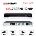 Hikvision оригинальный 4K NVR DS-7608NI-I2/8 P 8CH 8 POE NVR для POE камеры 12MP Max 2 SATA сетевой видеорегистратор