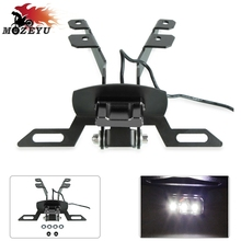 цена на For YAMAHA tmax T-MAX 530 TMAX 530 2017 2018 tmax530 CNC Motorcycle License Number Plate Frame Holder Bracket with LED light