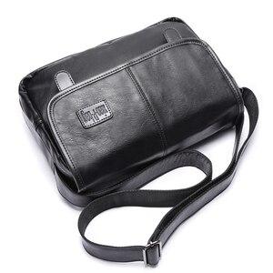Image 5 - Yeni tasarım erkek çanta, yüksek kaliteli pu deri postacı çantası, moda çapraz vücut çanta, rahat öğrenciler bir omuz okul çantası