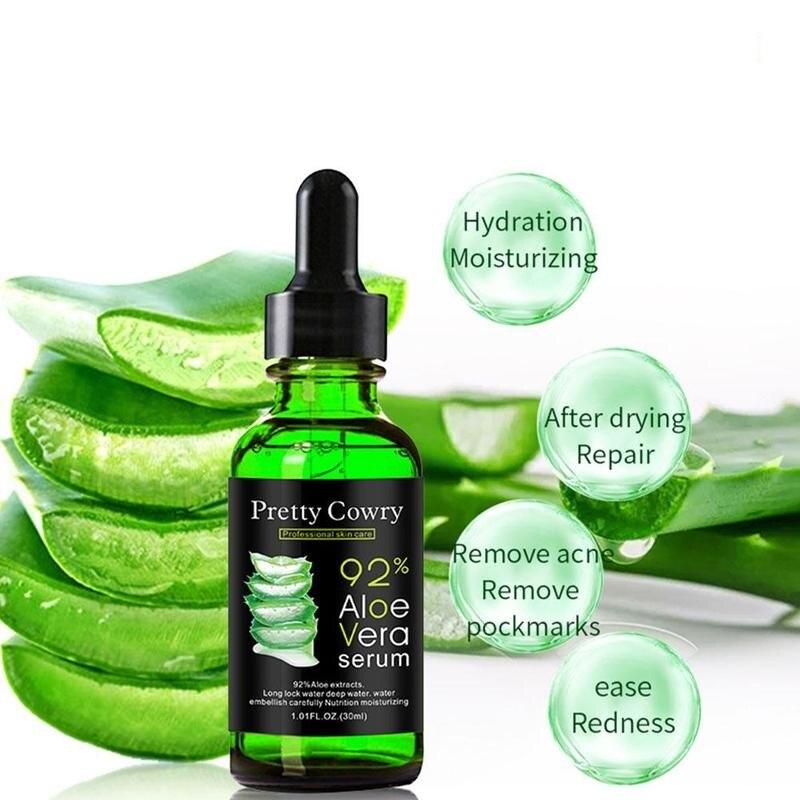 Pretty Cowry Aloe Vera Serum Acne Scar Removal Essence Serum Acne Spots Skin Care Treatment Whitening Remove Acne Face Care 30ML
