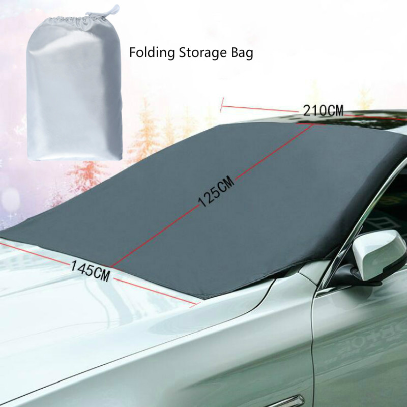 210*125cm Automobile Magnetic Sunshade Cover Car Windshield Snow Sun Shade Waterproof Protector Cover Car Front Windscreen Cover