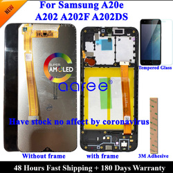 LCD Screen For Samsung A20e LCD A202 lcd display For Samsung A202 A202F A202DS LCD Screen Touch Digitizer Assembly