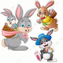 Металлические Вырубные штампы в виде Пасхальных Кроликов и яиц, горячие новые трафареты для изготовления альбомов для скрапбукинга, праздн...