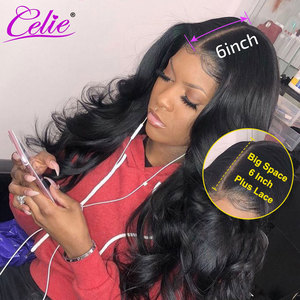 Image 2 - Celie Hair 4x4 6x6 Closure Wig Body Wave Human Hair Wigs For Black Women 13x6 Lace Front Human Hair Wig Body Wave Lace Front Wig