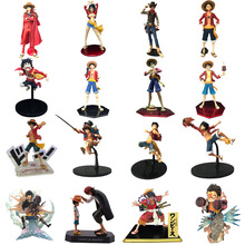 20 Styles Anime One Piece  POP Shanks Monkey D Luffy PVC Action Figure Doll Child Luffy Collectible Model Toy Christmas Gift 7 one piece monkey d luffy battle ver figuarts zero boxed pvc action figure collection model toy gift