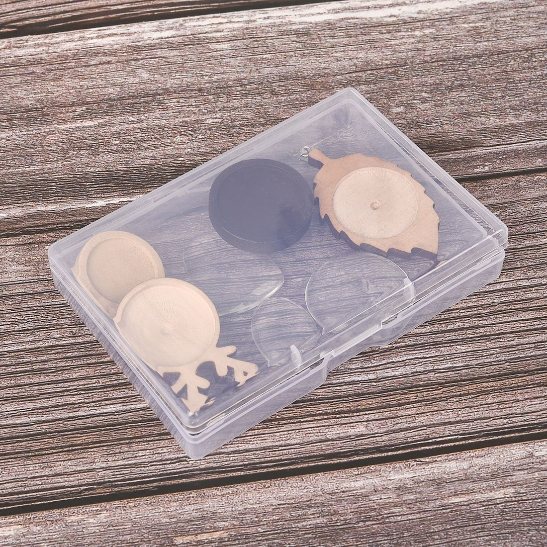 5pcs Jewelry Storage Square Plastic Box Transparent Clear Multipurpose Display Tool Case Craft Jewelry Organizer Boxes