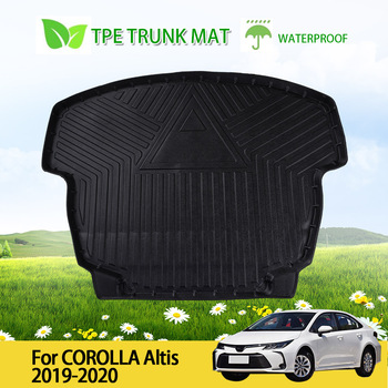 Waterproof Car Rear Boot Cargo Liner Trunk Floor Mat Rubber Protector For Toyota Corolla Altis 2019-2020 image