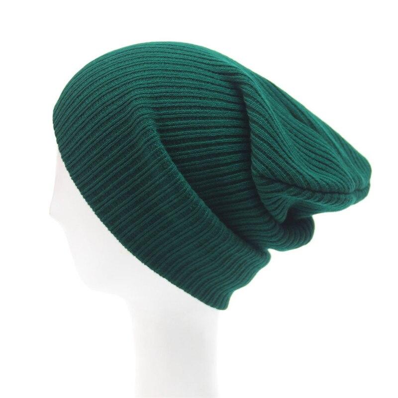 Men's Women Beanie Knit Ski Cap Hip-Hop Winter Warm Unisex Wool Hat Knitted Casual Cap Warm Winter Ski Hat For Men Women