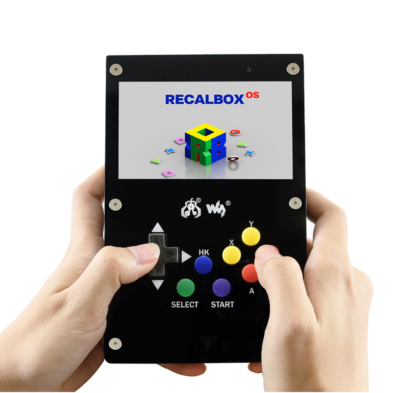Gamepi 43 Retro Handheld Game Player With Raspberry Pi 3B 4.3inch Video Game Console Support GBA/ NES...Included 10000 Games