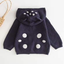 Baby Knitted Clothes Autumn Ear Hooded Baby Coat Infant