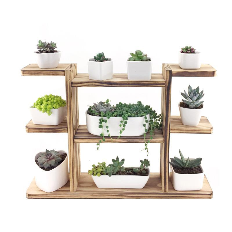 Etagere Plante Indoor Estante Para Plantas Wood Rak Bunga Garden Shelves For Plant Outdoor Balcony Shelf Dekoration Flower Stand