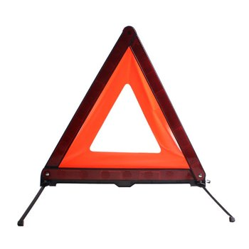 Car Triangle Emergency Warning Sign Foldable Reflective Safety Roadside Lighting Stop Sign Tripod Road Flasher image