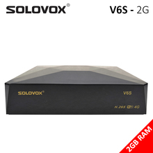 SOLOVOX V6S Satellite TV DVB S2สนับสนุนM3U Xtream Stalkerการ์ดแชร์บราซิลIKSถอดรหัสUSB WiFi 3G 4G PowerVU Biss
