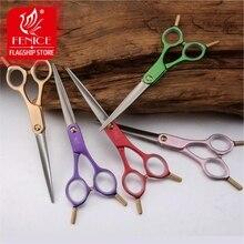 Fenice 6.0 inch Pet Grooming Cutting Straight Scissors Dog Hair Shear Aluminum Handle