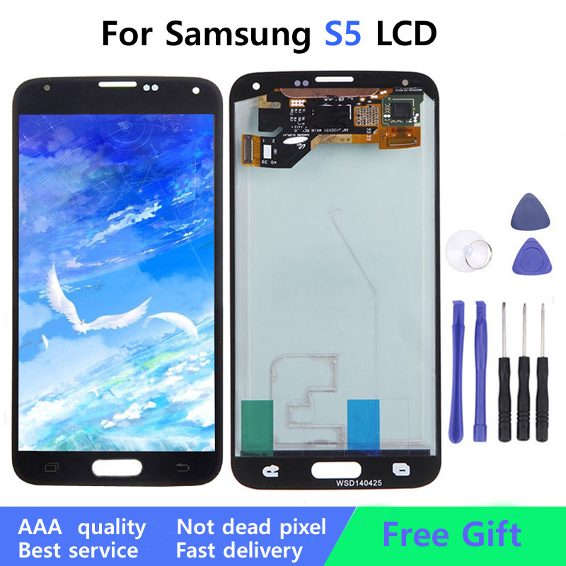 5.1''Original Lcd For Samsung Galaxy S5 G900 G900F I9600 LCD Display Touch Screen Digitizer Assembly+Tools(China)