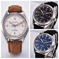 Corgeut Luxus Marke männer Armbanduhr Automatische Sport Design uhr männlichen Sapphire leder Mechanische männliche armbanduhr auf