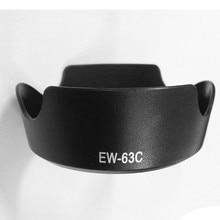 10 sztuk/partia EW 63C czarny/kwiat biały kształt osłona obiektywu do EF S 18 55mm f/3.5 5.6 IS STM