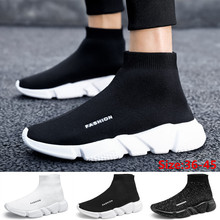 Fashion Mens Womens Comfy Mesh Woven Sneakers Lovers Casual Sports Walking Sock Shoes