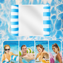 Floating Row Beach Pool Air Mattress Foldable Backrest Float Bed for Water Sport Portable Swimming Inflatable Float