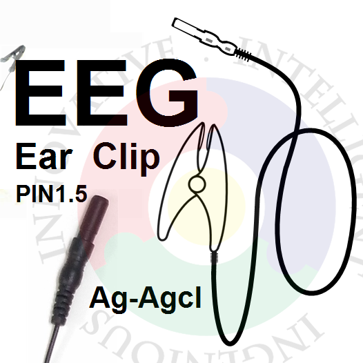 Advanced EEG Brain Electric Ear Clip Electrode, Silver Chloride Ear Clip Electrode, Suitable For EEG Module Such As OpenBCI