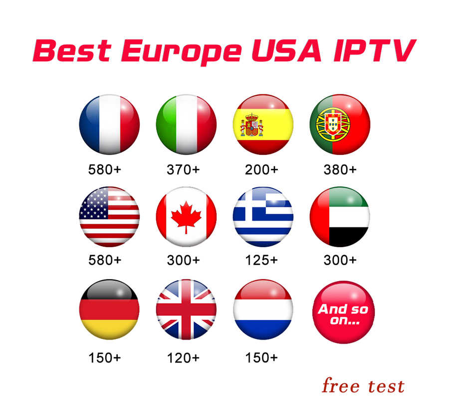 France KING OTT iptv Subscription for French Spain Portugal Nordic Support Adult M3u Enigma2 Smart X96MINI Android TV Box 1 year
