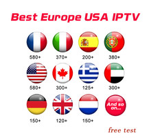 Suscripción de Francia KING OTT iptv para Francia España Portugal soporte nórdico adulto M3u Enigma2 Smart X96MINI Android TV Box 1 año(China)