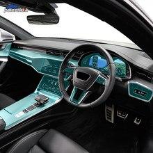 Автомобильная внутренняя консоль Шестерня навигационный экран приборная панель прозрачная защитная пленка TPU для Audi A7 S7 C8 4K 2019 2020 аксессуар...
