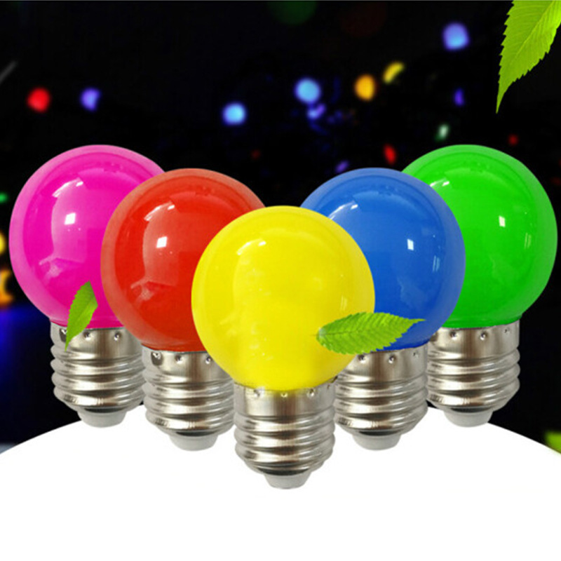 E27 3W Colorful Led Bulb For Chandelier New Year Christmas Decoration Red Blue LED Lights