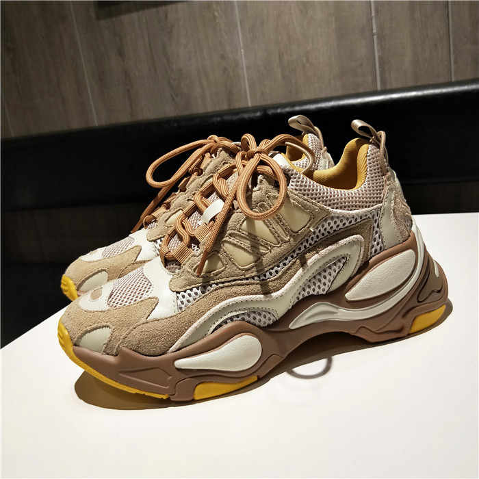 Tide Sneakers Women Mixed Color Chunky Sneakers Mesh Shoes Women Thick Sole Ladies Shoes Casual Sapato Feminino Zapatos De Mujer