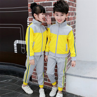 Boys/Girls School Uniforms Suits Clothing Set 2018 Spring and Autumn Children 's Class Primary/Secondary School Students ly