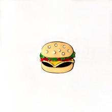 Винтажные emamel на булавке милый имитации гамбургер броши значки