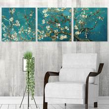 Абстрактная Картина на холсте с изображением цветов и абрикоса