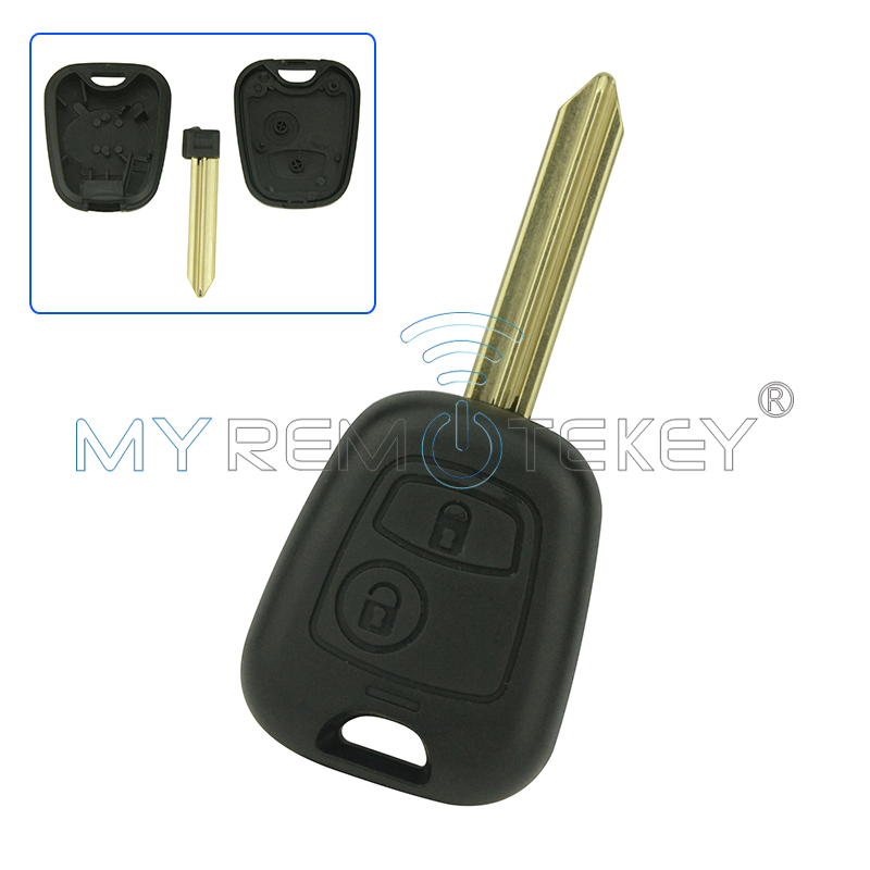 Remote key shell case cover 2 Button SX9 key blade for <font><b>Citroen</b></font> Xsara Picasso <font><b>Berlingo</b></font> 2002 - <font><b>2008</b></font> remtekey image