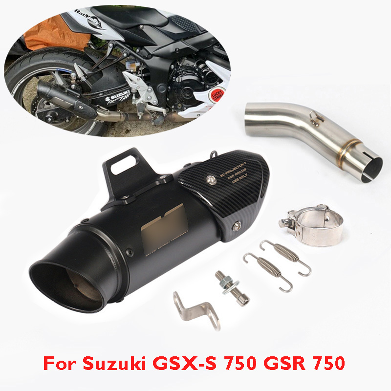 Escape Middle-Link-Pipe Exhaust-Pipe GSR Gsxs 750 Muffler Slip-On Can Connect Tail