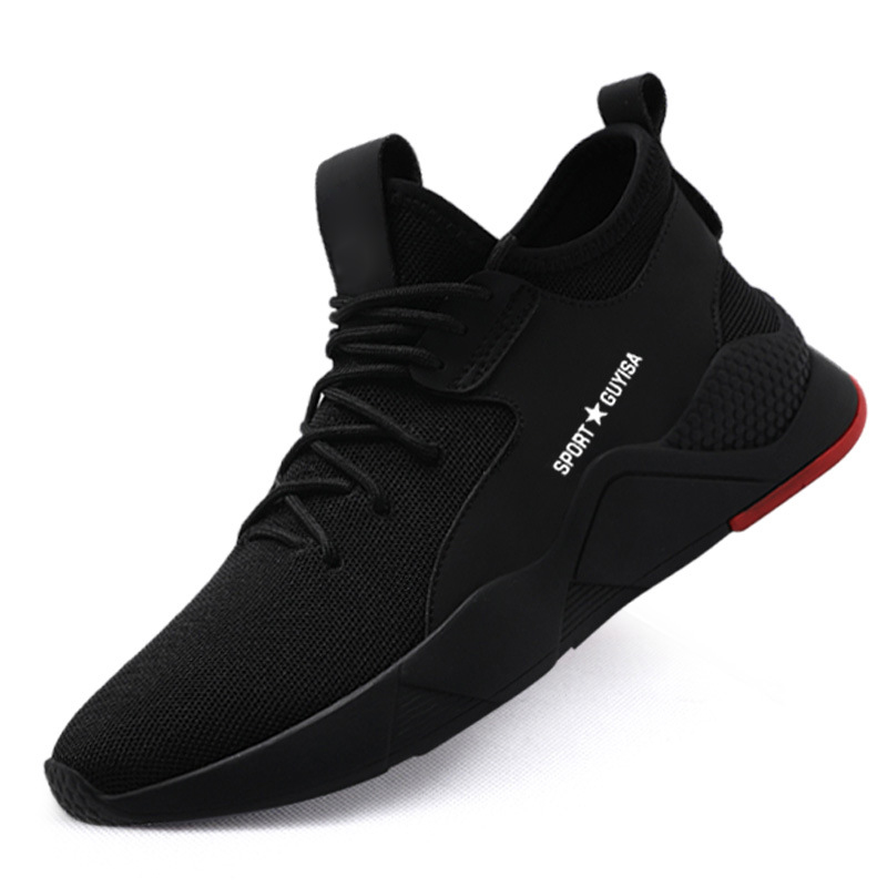 1 Pair Heavy Duty Sneaker Safety Work Shoes Breathable Anti-slip Puncture Proof for Men THJ99
