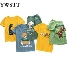 2020 Summer Kids Boys T Shirt Cartoon Print Short Sleeve Baby Girls T-Shirts Cotton Children's T-Shirt O-Neck Tee Tops Boy Cloth цена и фото