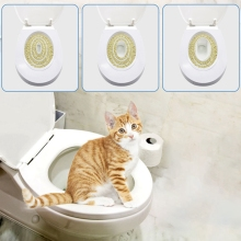 Кота приучение к горшку комплект сиденье коврик для домашних животных наполнитель для кошачьего туалета уборки столики с маленьким котиком, небольшой поезд Системы тренировочный Туалет Лоток для домашних животных