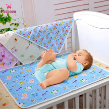 Pudcoco Baby Changing Pad Reusable Baby Cover Diapers Mattress Diapers Newborn Random Pattern Linens Waterproof Sheet Mat(China)