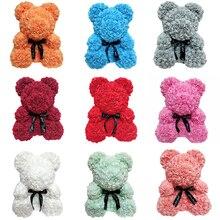 Rose Bear 25CM Teddy Bear Artificial Flower Bear For Valentine's Day Girlfriend's Gift Wedding Decorative paddington bear all day