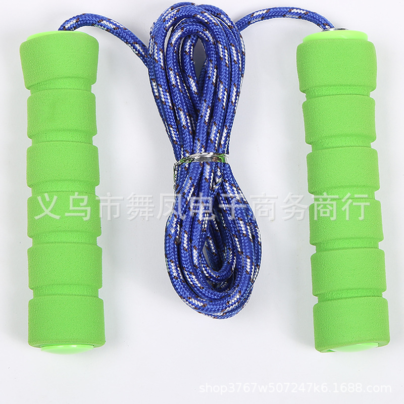 Adult Fitness Jump Rope Outdoor Sports Supplies Sponge Handle Rope Skipping With Bearings Consumption Heat Sports Fitness Rope
