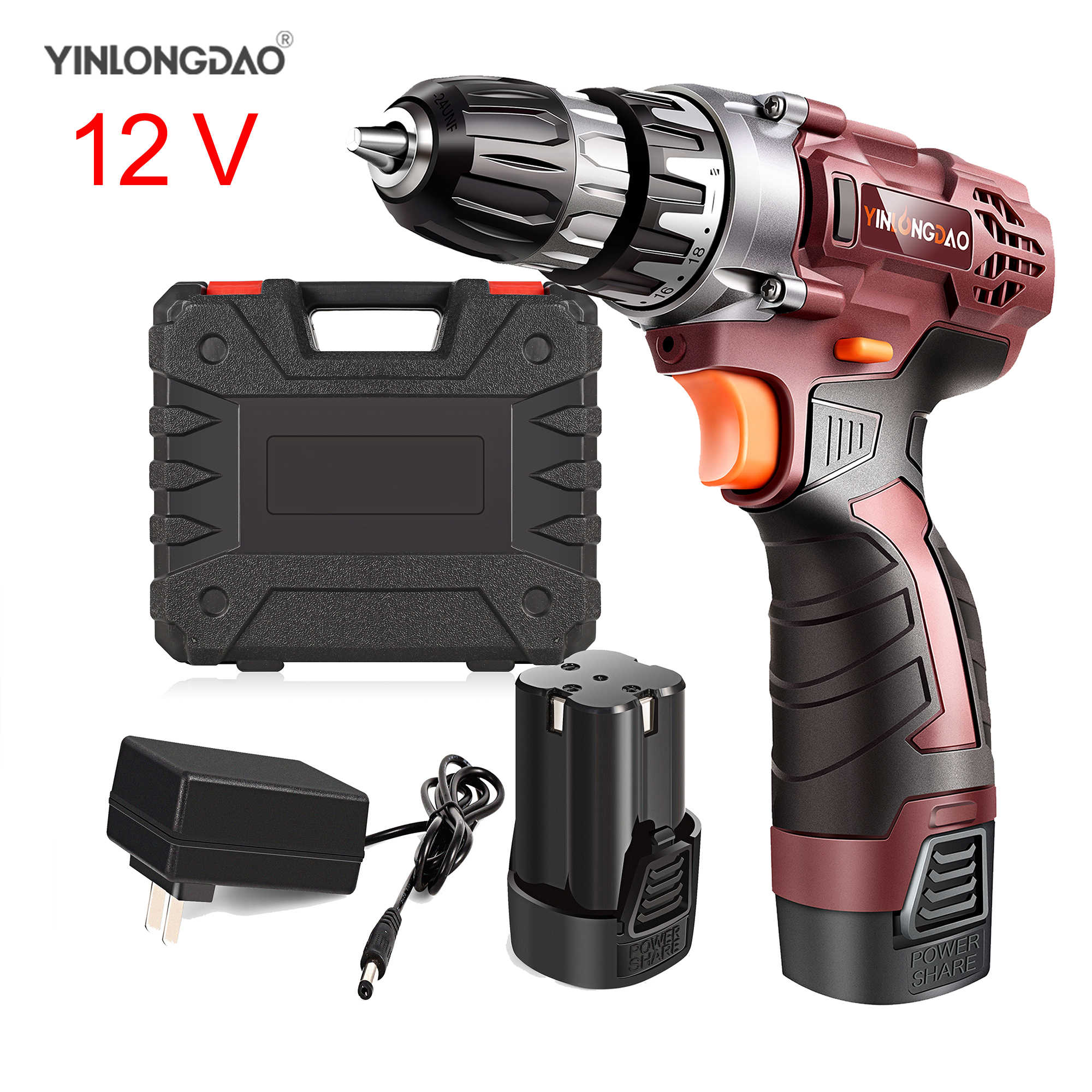12V Lithium drill Electric Screwdriver Cordless Drill  Lithium-Ion Battery Wireless Power Driver DIY Torque drill Power Tools