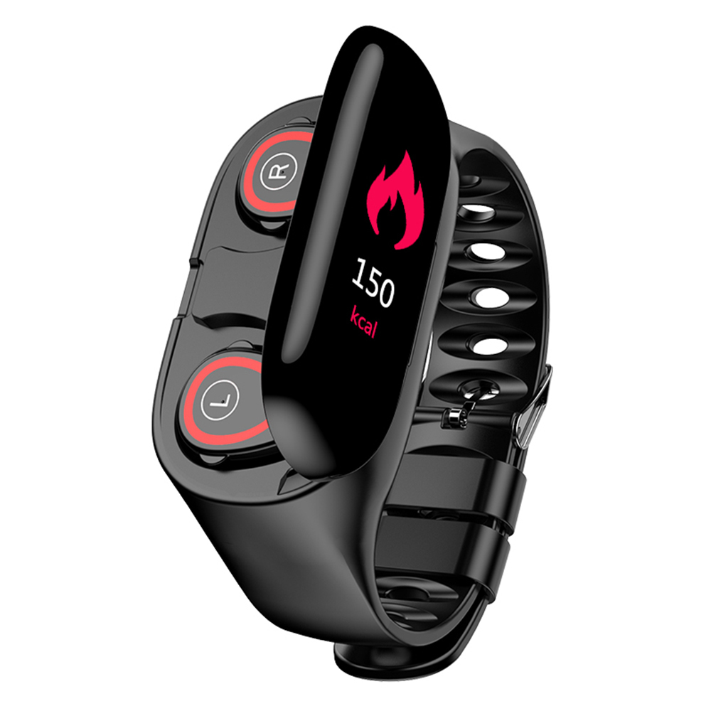<font><b>Wireless</b></font> Bluetooth Kopfhörer Mit Herz Rate Monitor Stereo Ohrhörer Headset Lange Standby-<font><b>Sport</b></font> Uhr smart band Armband image